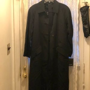(NEW)-GALLERY 100%WOOL GABARDINE LINED TRENCH